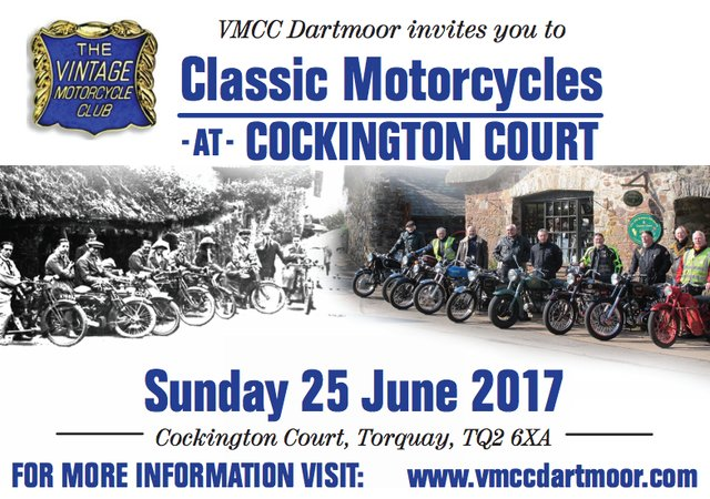 classic motorcycles cockington 2017