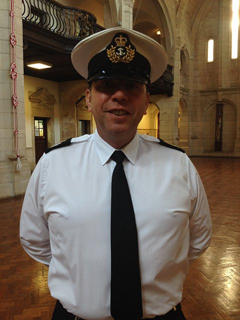Ceremonial training officer Jon Nicholl