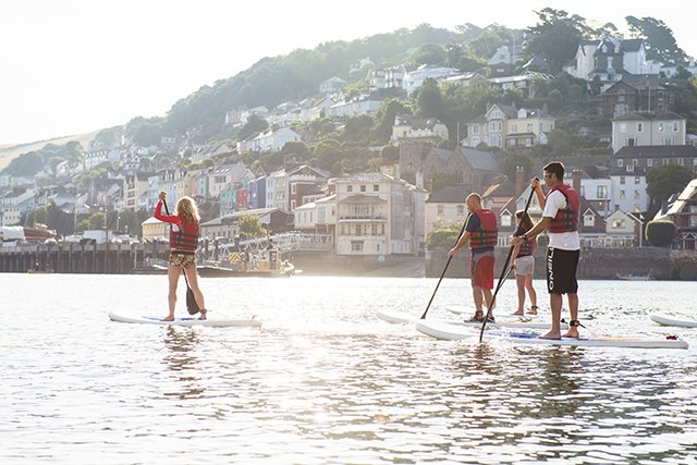 SUP on the River Dart