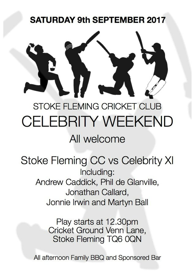Stoke Fleming Cricket Club - Celebrity Weekend