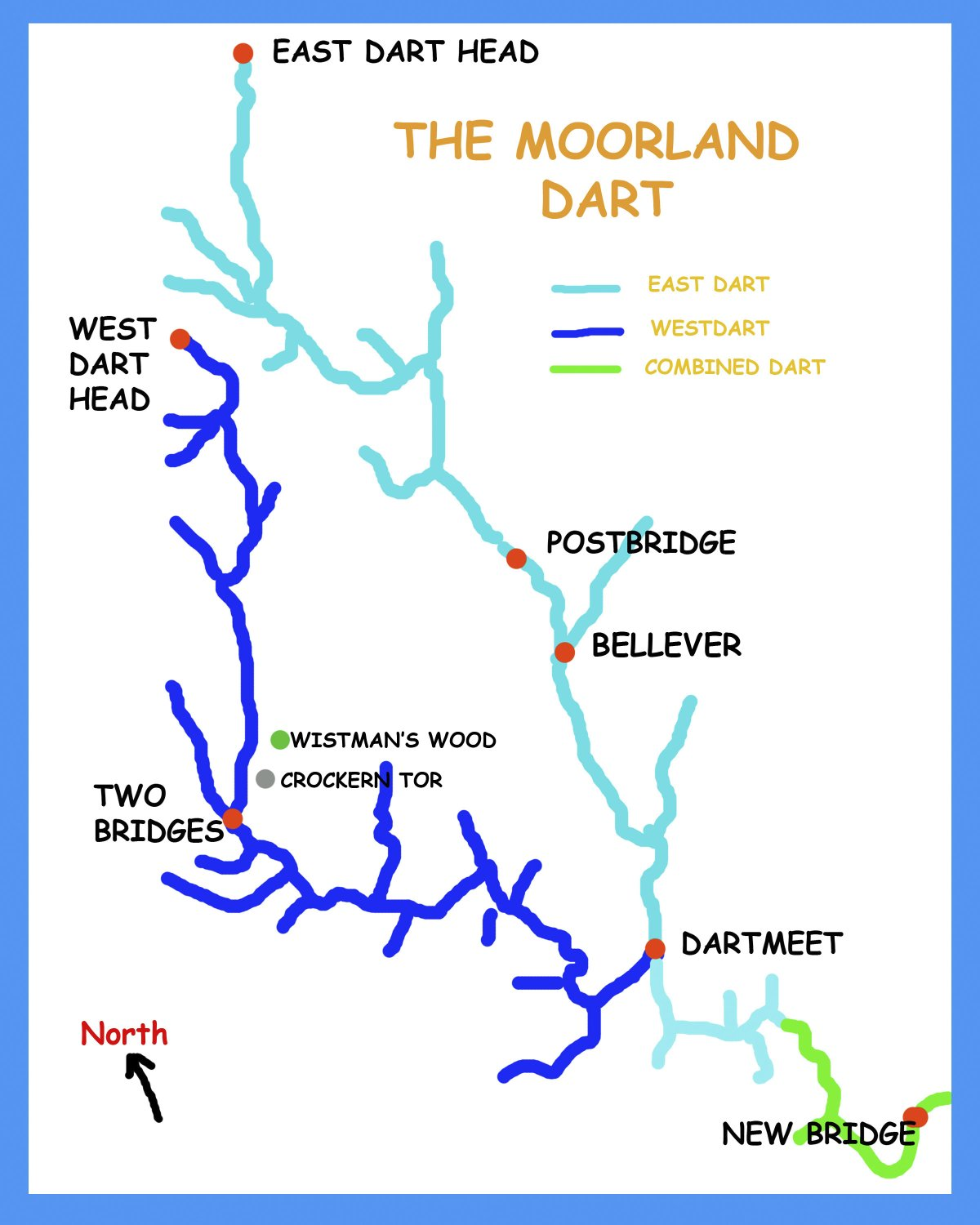 The Sources of The River Dart - By The Dart