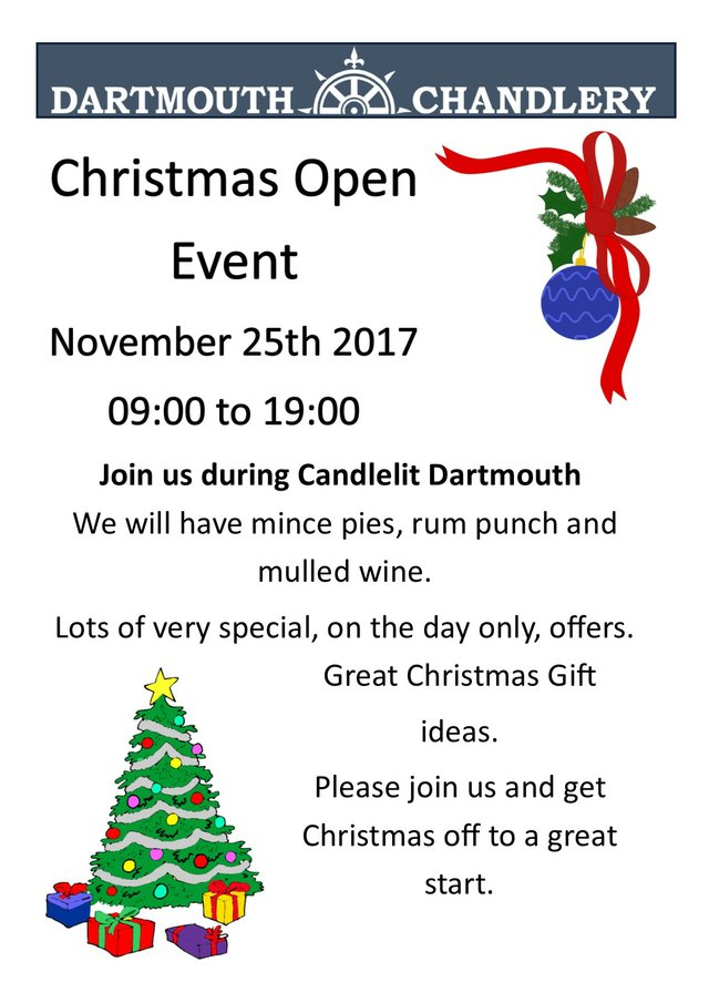 DArtmouth Chandlery - Christmas Open Event
