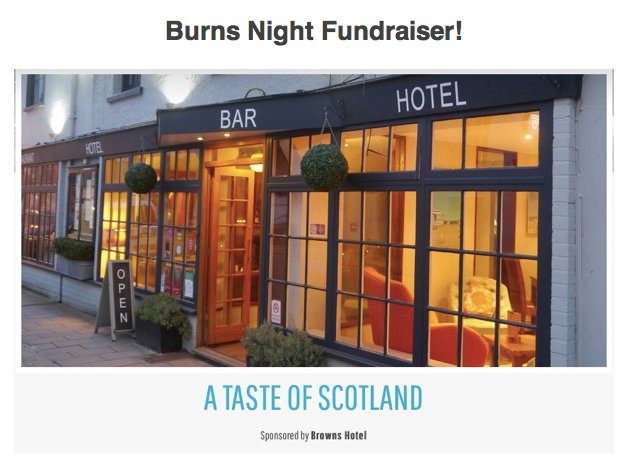 burns night fundraiser
