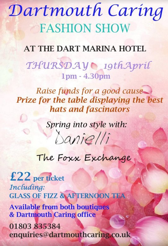dcaring fashion show poster