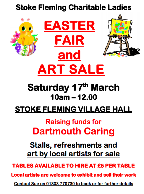 easter fair and art sale