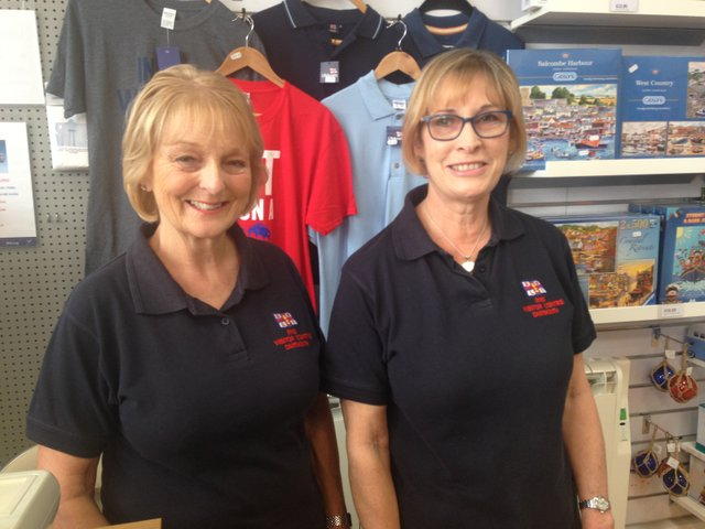 Dartmouth at Work - Angela Bush and Pauline John, RNLI Visitor Centre