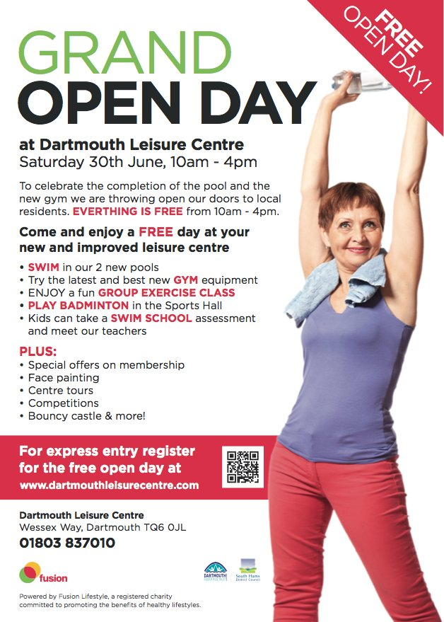 Dartmouth Leisure Centre Open Day