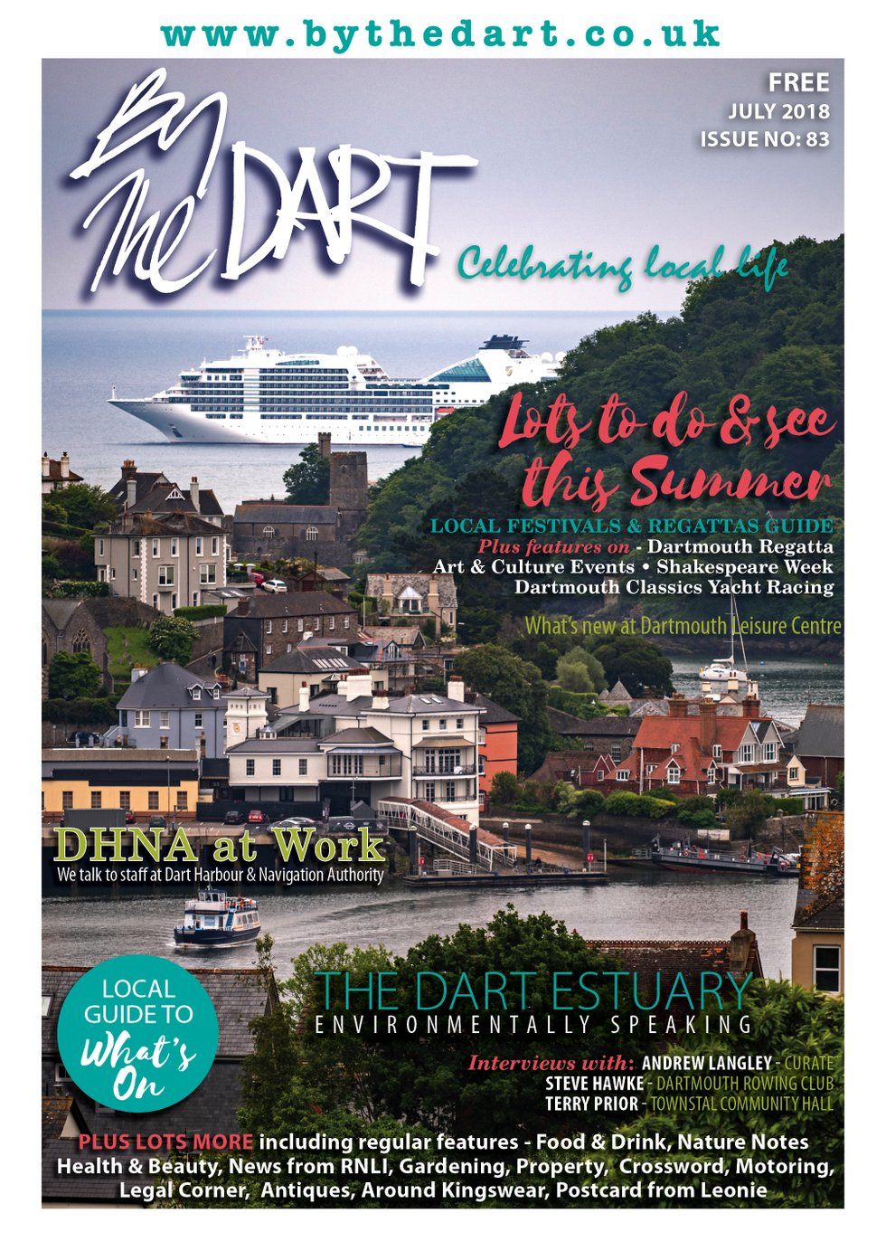 By The Dart July 2018 front cover