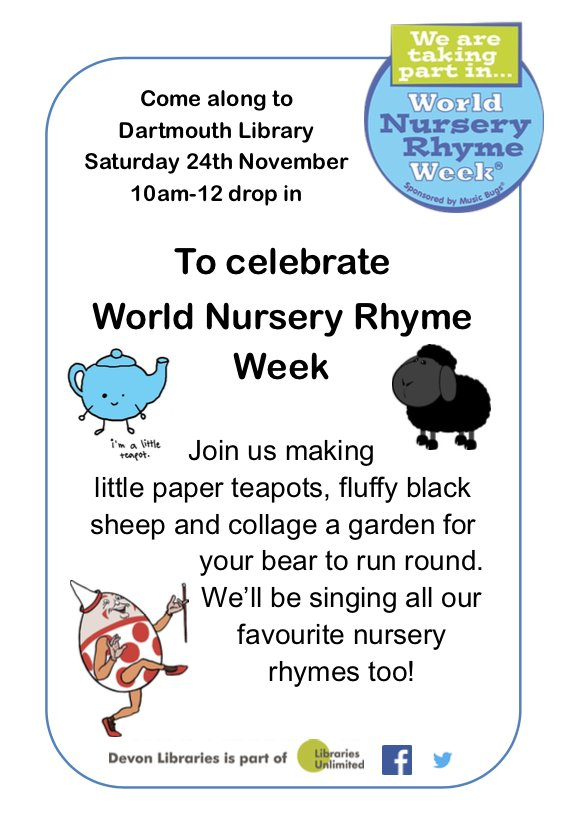 national nursery rhyme week