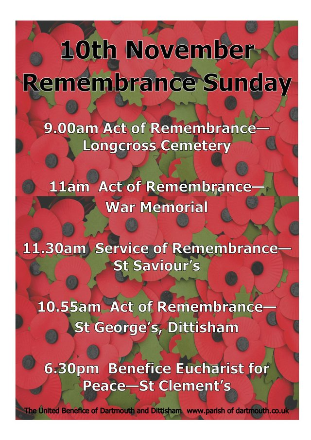 2019 remembrance service dartmouth