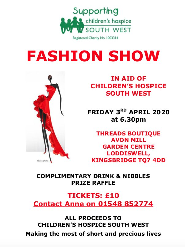 childrens hospice south west fashion show