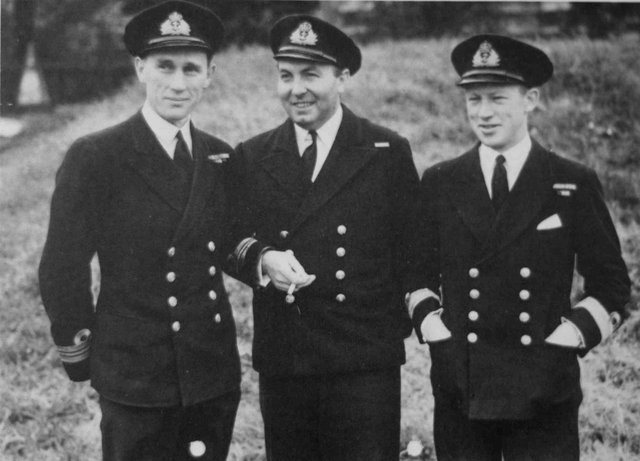 Robert Franks (far left) just before D-Day