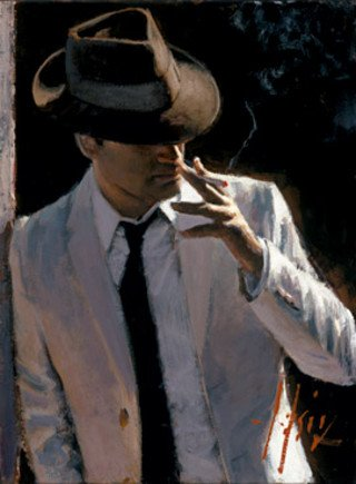Marcus with Hat and Cigarette