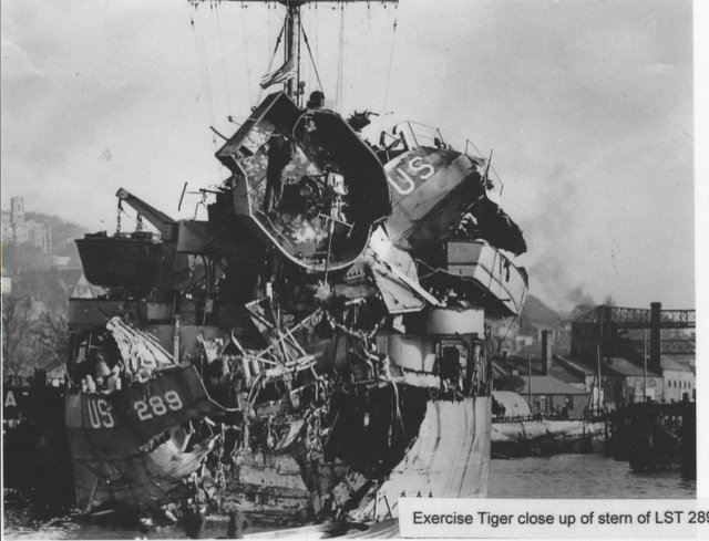 Damaged LST