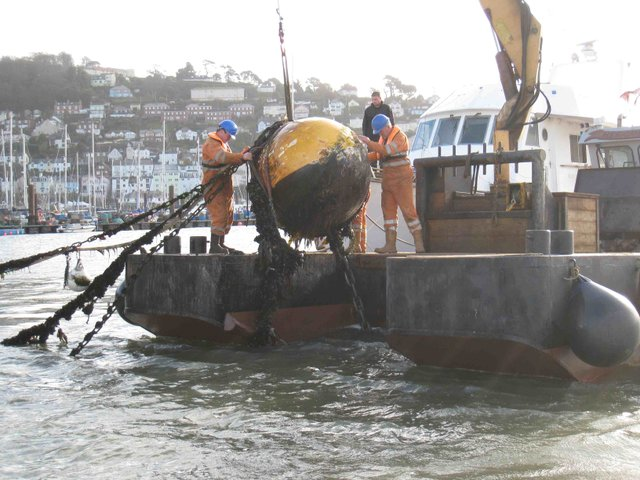 Mooring Maintenance on the River Dart