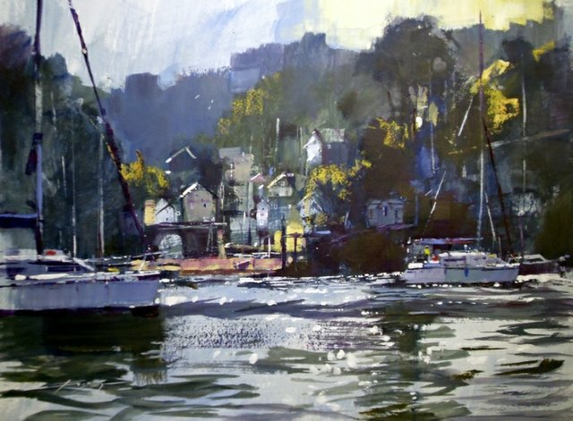 """Warfleet, into the Cove"" by Chris Forsey RI"
