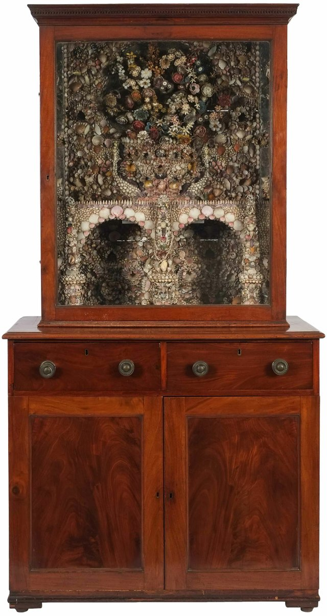 The Penrose Irish shell cabinet with fantasy grotto