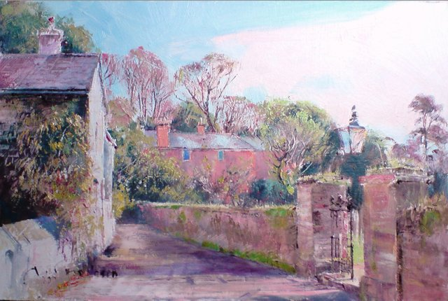 study for Slapton Village - John Donaldson