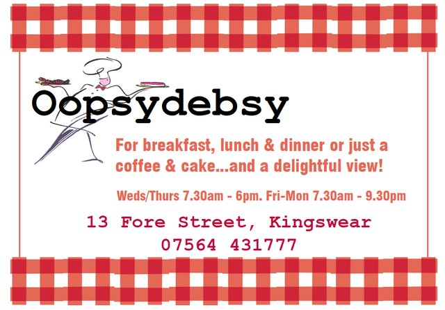 Oopsydebsy opens for business in Kingswear on May 8th