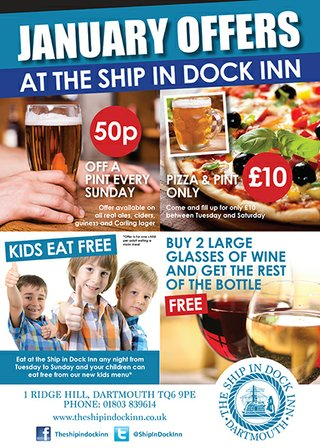 January 2015 Offers at The Ship in Dock
