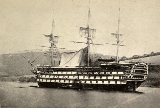 1863 - A picture of the original HMS Britannia