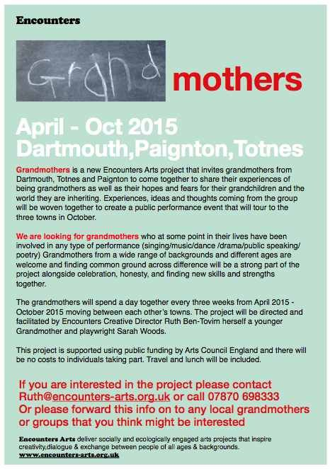 Calling All Grandmothers for Exciting New Arts Project