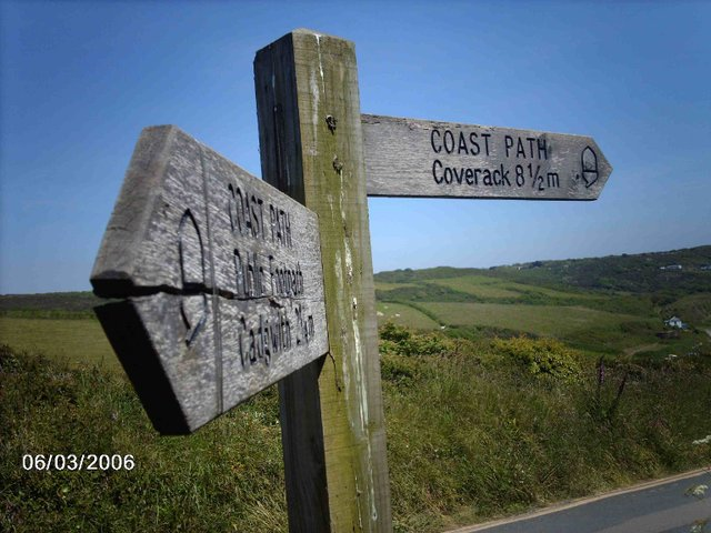 Coast Path Sign-post
