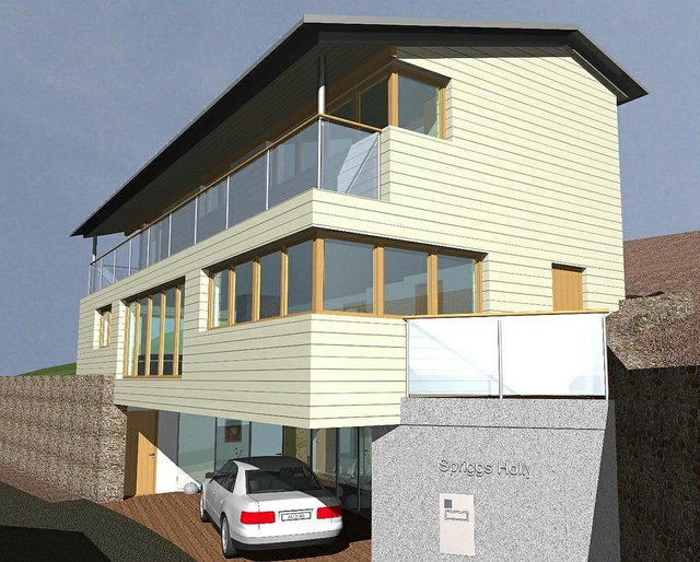 Design for new house at Spriggs Holly, Dartmouth