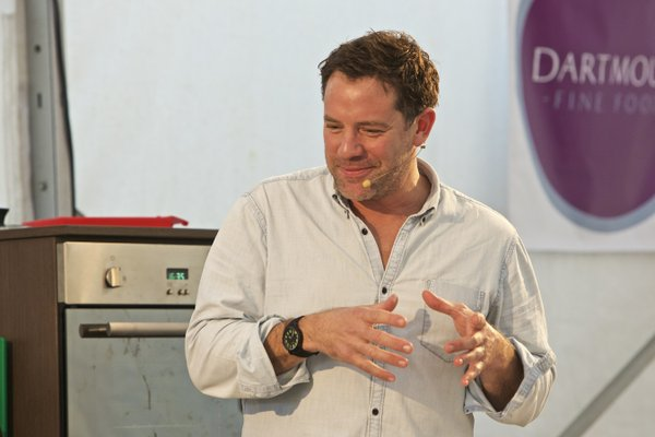 Matt Tebbutt at Dartmouth Food Festival 2015