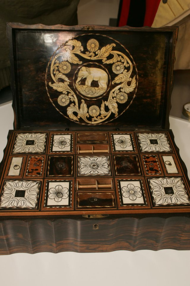 An Ivory Trinket Box from India brought to Dartmouth