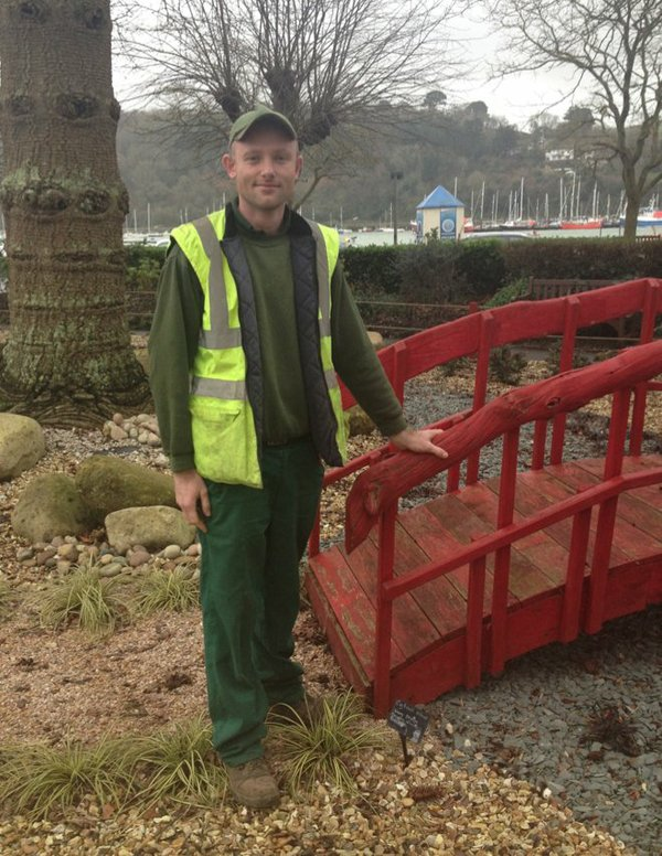 Matt Horan, Gardener for South Hams District Council