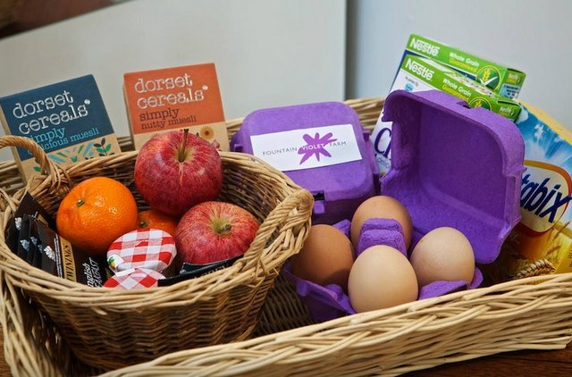 Fountain Violet Farm Breakfast Basket