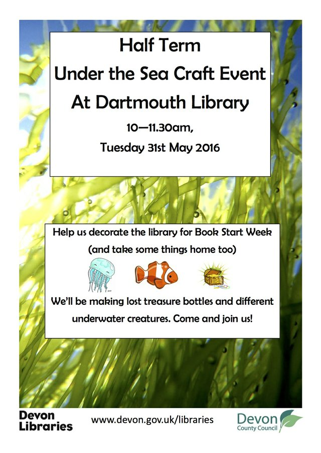 Under The Sea crafts event, Dartmouth Library