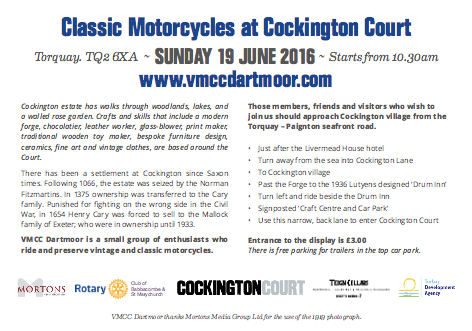 Classic Motorcycles at Cockington