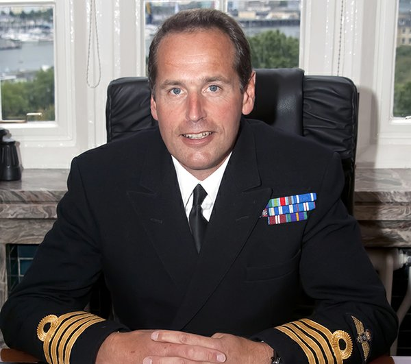 Captain Jolyon Woodard BRNC Commanding Officer